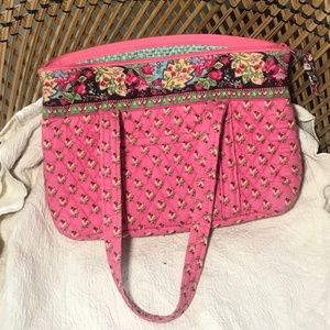 Vera Bradley Pink Pansy Little Betsy Bag - Retired